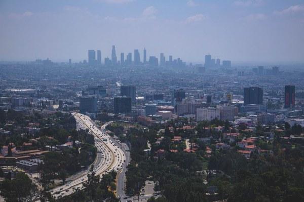 Veduta aerea architettura americana, paesaggio America, California