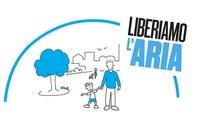Logo liberiamolaria, qualità dell'aria, smog
