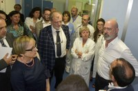 Bonaccini visita ospedale Santa Maria Borgotaro Tour Appennino parmense (giugno 2019)
