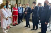 Visita ministro Speranza hub vaccinale Modena 21-06-21
