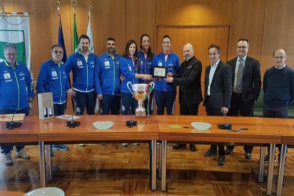 Bonaccini premia la Battistelli Volley