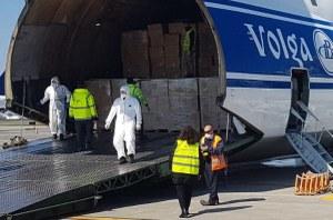 Coronavirus, aeroporto Marconi Bologna, volo cargo dalla Cina, materiale sanitario (2/4/20) -2