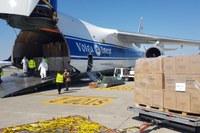 Coronavirus, aeroporto Marconi Bologna, volo cargo dalla Cina, materiale sanitario (2/4/20) -1