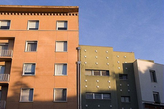 Casa, edificio, abitazione, condominio