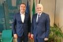 Incontro Colla e segretario Stato San Marino Lonfernini