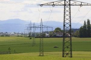 Elettrodotto, linee elettriche, panorama