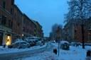 Bologna, Piazza Aldrovandi (neve, maltempo 6/2/15)