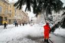 Comune di Parma sotto la neve