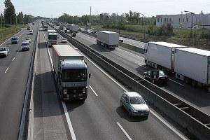 Autostrada, strada, traffico, camion , auto