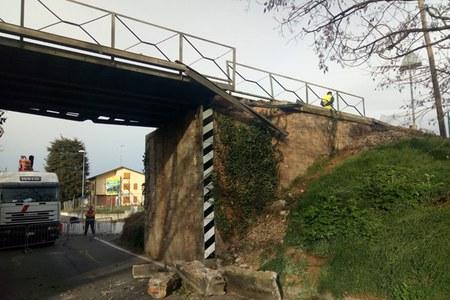 Ponte, Cavriago, danni, lavori