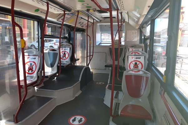 Bus, posti coronavirus, distanziamento