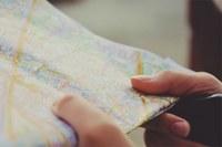 Cartina, mappa, viaggio, turismo