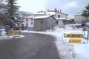 E45 interruzione neve segnaletica gialla