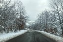 E45 strada innevata neve