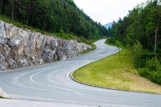Strada di montagna appennino