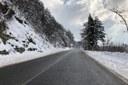 E45 strada neve gelo