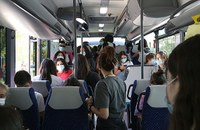 studenti in autobus