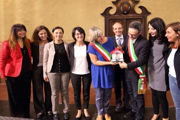 Emma Petitti inaugura casa delle donne a Piacenza