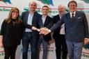 Stefano Bonaccini e i Giancarlo Muzzarelli, Federico Pizzarotti, Patrizia Barbieri, Luca Vecchi, area vasta