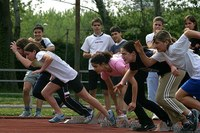 Podisti, gara di corsa, ragazzi, sport