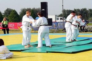 Ragazzi che fanno judo, judo, sport