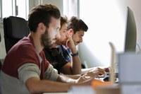 Ragazzi, giovani, pc, computer