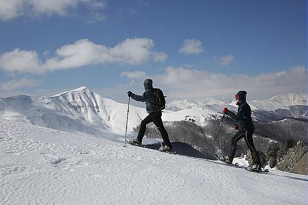 Sciatori, montagna, Appennino, neve, sci, sport