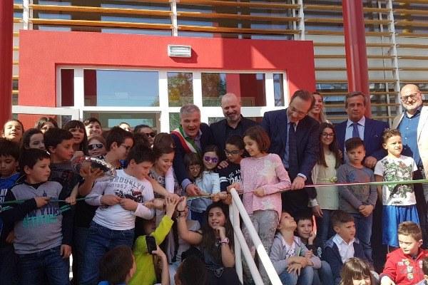 Bonaccini a inaugurazione nuovo polo scolastico di Collecchio (Pr)- 08-04-2017