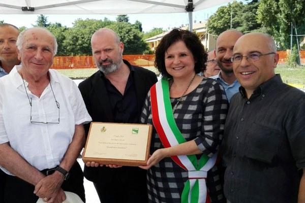 Bonaccini a San Mauro Pascoli, inaugurazione scuola