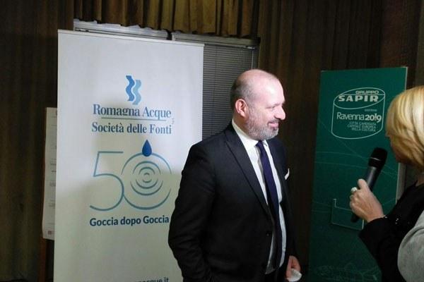 Bonaccini al convegno per il 50° anniversario di Romagna Acque Società delle Fonti