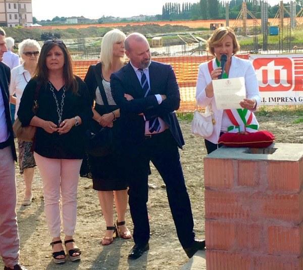 Bonaccini alla posa prima pietra Casa protetta di Ravarino (Mo), 4-06-2017