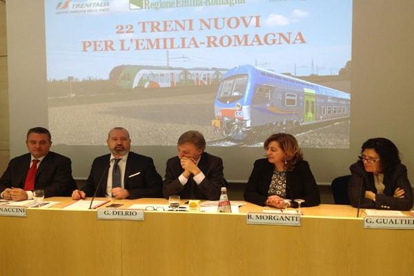 Bonaccini, Del Rio e Donini su nuovi treni