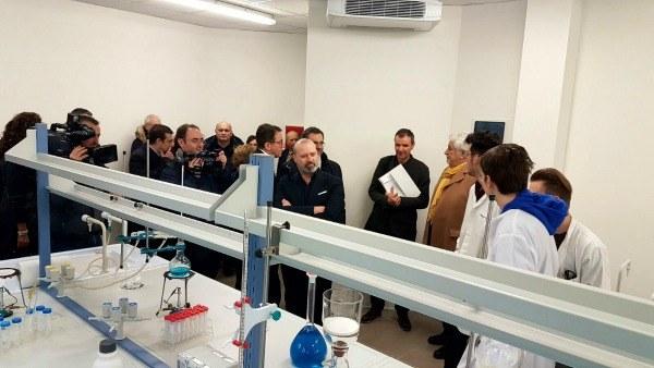 Bonaccini inaugura ampliamento Fermi - Aula