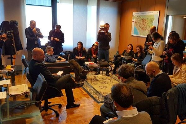 Bonaccini incontra i giornalisti a fine 2016