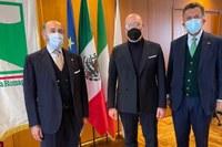 Relazioni internazionali,  Console Zavoli, presidente Bonaccini, ambasciatore Messico Garcia de Alba Zepeda