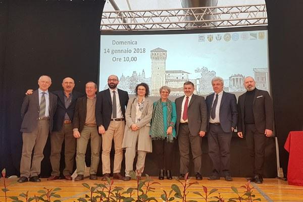 Bonaccini alla presentazione del progetto della Rocca di San Felice sul Panaro