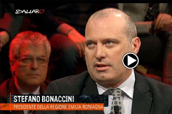 Il presidente Bonaccini a Ballarò, 17 marzo 2015