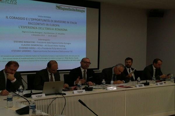 Il presidente Bonaccini a Bruxelles su attrattività e investimenti