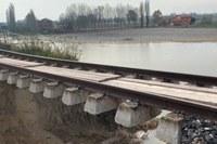 alluvione idice ferrovia portomaggiore bologna