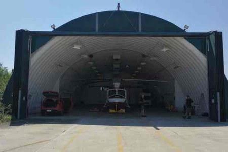 elicottero hangar protezione civile incendi boschivi