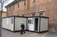 Coronavirus installazione moduli ospedale Piacenza