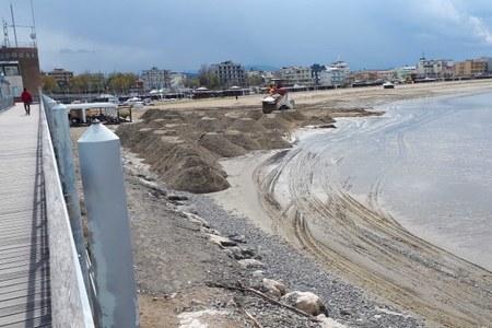 ripascimento spiaggia a San Giuliano