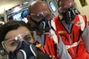 Coronavirus volontari Anpas con mascherine DPI