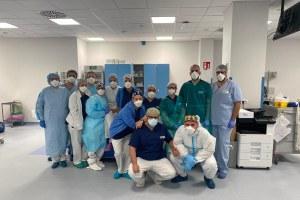 Foto di squadra degli operatori sanitari di reparto.  3 dicembre 2021