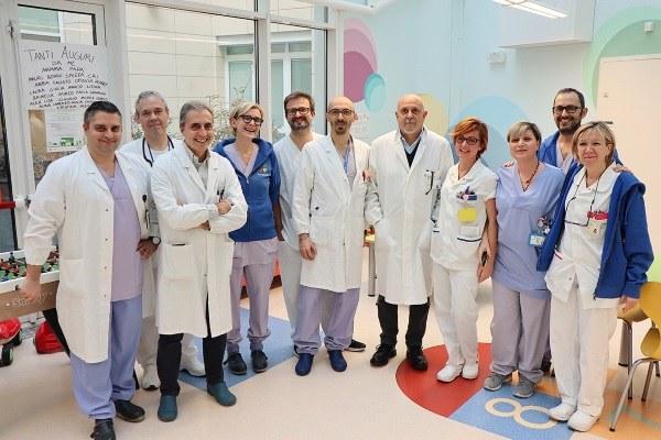 Intervento su neonato cardiopatico. Ospedale Sant'Orsola