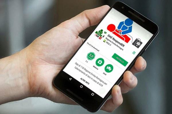 Dae Responder, app, 118, defibrillatoritill