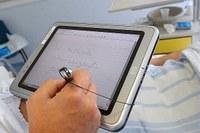 Ospedale, tablet, medico, paziente