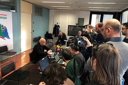 Venturi, conferenza stampa