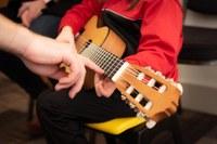 Chitarra, musica, lezione