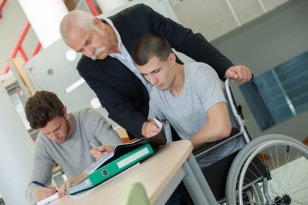disabili, scuola superiore, insegnante